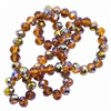 Smoky Topaz Vitrail Rondelles, glass beads, beads, topaz, round beads, 8x6mm, crystal beads, faceted, bead, glass, 70 pieces, drilled, us made, nickel free, b'sue boutiques, jewelry making, jewelry findings, vintage supplies, 06146, machine cut