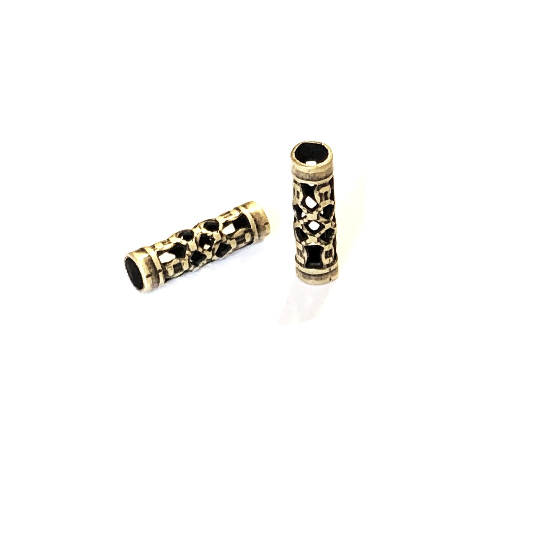 filigree tube beads, filigree beads, jewelry making, 0705, brass bead, filigree beads, brass metal beads, brass ox beads, designer findings, designer beads, steampunk art jewelry, beading supplies, vintage jewelry supplies,