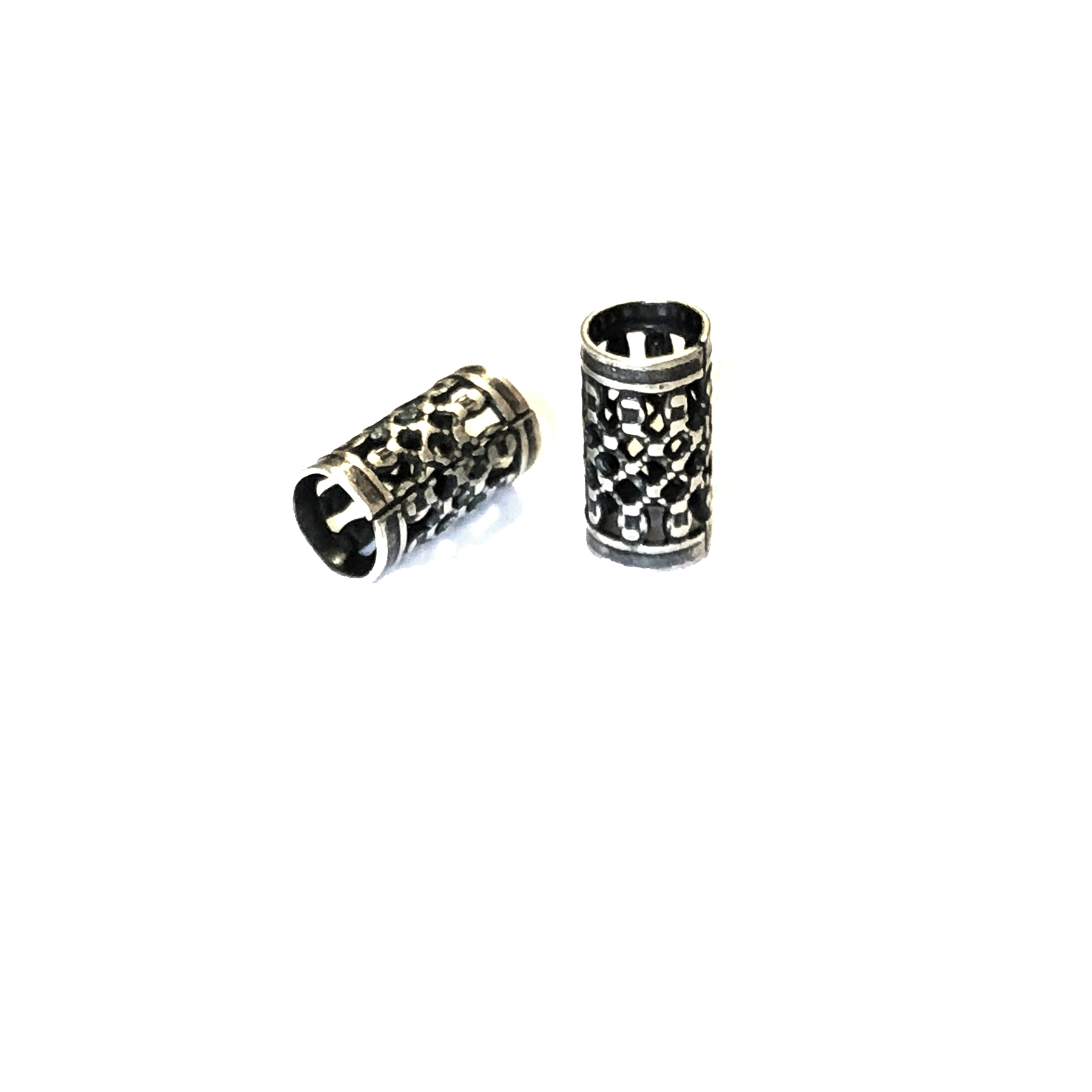 filigree tube beads, filigree beads, jewelry making, 0709, brass bead, filigree beads, brass metal beads, silverware silver plate beads, designer findings, designer beads, steampunk art jewelry, beading supplies, vintage jewelry supplies,
