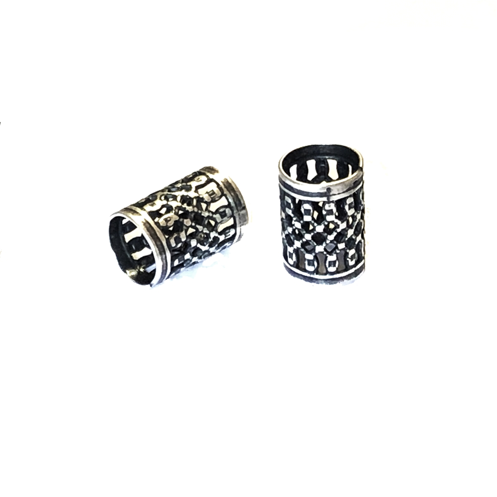 filigree tube beads, filigree beads, jewelry making, 0710, brass bead, filigree beads, brass metal beads, silverware silver plate, beads, designer findings, designer beads, steampunk art jewelry, beading supplies, vintage jewelry supplies, tube beads