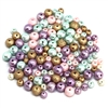cotton pearls, pastel beads, bead mix, 0713, multi-color beads, assortment, mixed beads, pastel, assorted colors, cotton, beads, 6 & 4mm, B'sue Boutiques, beading supplies, jewelry making, cotton beads