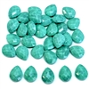 acrylic briolettes, side drilled briolettes, designer beads, opaque turquoise matrix, acrylic beads, vintage designer beads, old beads, faceted briolettes, beading supplies, briolettes, vintage briolettes, pear shaped pendants, tear drop beads, 07355