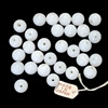 Japanese beads, glass beads, opal white, 8mm, 07509, jewelry making supplies, beading supplies, vintage jewelry supplies, Japanese glass, white beads,
