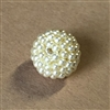 Vintage pearl ball beads, rich cream, 14-15mm, 07593, beading supplies, vintage jewelry supplies, jewelry making supplies, seed beads, pearl beads, bsueboutiques, ball beads, ball pearl beads