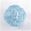 acrylic beads, floral beads, blue crystal, 12mm, blue, beads, transparent, floral, design pattern, plastic beads, light blue, crystal, drilled, jewelry making, us made, b'sue boutiques, jewelry findings, vintage supplies, jewelry supplies, 07819
