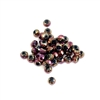 metallic pink vitrail beads, glass beads, beads, rondelle beads, 4x3mm, fire polished beads, faceted, beads, glass, drilled, b'sue boutiques, jewelry making, jewelry findings, vintage supplies, 07849, vintage glass beads, beading supplies