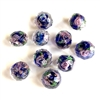 encased glass beads, floral beads, 07868, crystal beads, multi-color, pink rose, floral, blue beads, navy, glass beads, glass, faceted beads, facets, bsue boutiques, jewelry supplies, beads