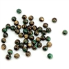 malachite bead, semi precious bead, green, brown, 6mm, cabochon, natural beads, semi precious beads, gemstone, round, malachite, green malachite, malachite brown, glossy shine, beads us made, B'sue Boutiques, jewelry beads, 08032