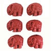 elephant beads, cinnabar beads, red, 18mm, 08127, beading supplies, vintage jewelry supplies, jewelry making supplies, Bsue Boutiques, elephant, animals, jungle, safari, africa, asia, india, carved beads, cinnabar
