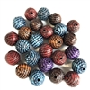patterned beads, acrylic, 10mm, 08128, multi color, fall colors, assorted beads, beads, colorful, multi-color beads, assorted colors, rope pattern, plastic beads, acrylic beads, bead mix, Bsue Boutiques, jewelry supplies, beading supplies