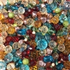 vintage bead mix, Novegatti Madras, 08174, acrylic beads, machine cut glass beads, ab beads, imported glass, bead mix, assorted beads, bead assortment, mixed colors of beads, designer acrylic beads, B'sue Boutiques