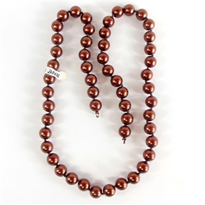 glass beads, Japanese glass beads, 08342, B'sue Boutiques, 24 inch strands, chocolate beads, bronze glass beads, beading supplies, vintage jewellery supplies, bead findings,