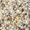 vintage Mod cultura pearls, Japanese glass, 08357, Japanese pearls, simulated pearls, imitation pearls, vintage glass pearls, B'sue Boutiques, vintage pearls, pearl beads, pearl bead mix, tear drop beads, baroque beads,