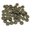 zinc alloy beads, daisy flower spacer beads, antique bronze, 08898, vintage jewelry supplies, beading supplies, jewelry making supplies, B'sue Boutiques, jewelry supplies, antique bronze plate beads, antique bronze beads, spacer beads