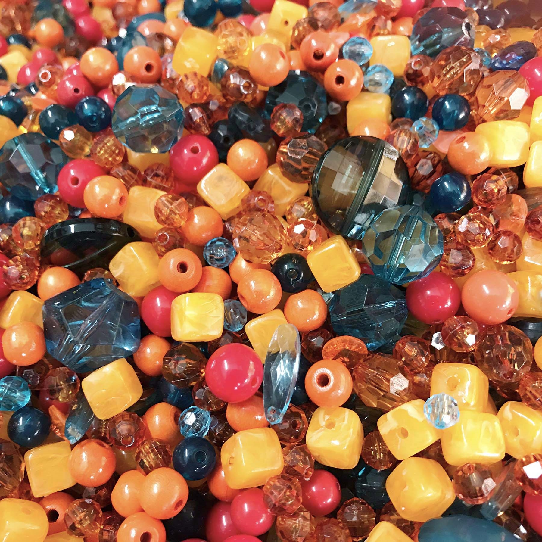 vintage beads, drilled, acrylic bead mix, beads, vintage beads, bead mix, assorted beads, B'sue Boutiques, turquoise beads, jewelry beads, designer beads, beading, acrylic beads, Hot-Cha-Cha Bead mix, beading supplies, 0896, marble cube lucite beads