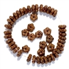 Czech glass flower beads, daisy flower spacer beads, burnt caramel finish, 09004, vintage jewelry supplies, beading supplies, jewelry making supplies, B'sue Boutiques, jewelry supplies, glass flower beads, spacer beads, 5mm beads