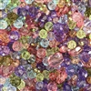 Prom Dress bead mix, acrylic beads 0902, sapphire ab, tanzanite beads, assorted beads, peridot beads, light sapphire beads, beading supplies, jewelry making supplies, vintage jewelry supplies, faceted beads
