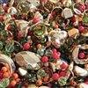 vintage beads, drilled, acrylic bead mix, beads, vintage beads, glass beads, assorted beads, B'sue Boutiques, lucite beads, jewelry beads, designer beads, beading, acrylic beads, Autumn Treasure Bead mix  II, beading supplies, 0905, metalized beads