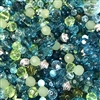 Bead Mix, Mermaid Cove, 0907, mixed green beads, assorted beads, beading supplies, jewelry making supplies, vintage jewelry supplies, faceted beads, mixed beads, teal beads