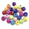 Acrylic Polka Dot Pattern Beads, Metal Accent, 09210, multi color, rainbow colors, assorted beads, 8x8mm, beads, colorful, multi-color beads, assorted colors, plastic beads, acrylic beads, bead mix, beading supplies