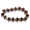 Turbine Mulberry Picasso finish beads, amethyst, purple, beads, Czech glass beads, purple beads, fire polished, Czech, glass, Picasso, drilled, glass beads, US made, B'sue Boutiques, transparent beads, faceted beads, 11x10mm, 09333