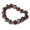 Baroque Brown Picasso finish beads, deep topaz, beads, Czech glass beads, round beads, fire polished, Czech, glass, Picasso, drilled, glass beads, topaz beads, US made, B'sue Boutiques, jewelry making, transparent beads, faceted beads, 8mm, 09341
