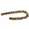 Czech glass beads, fire polished, California gold, 09371, glass beads, faceted beads, beading supplies, jewelry making supplies, bsue boutiques, temp strung beads, vintage jewelry supplies, vintage beads,