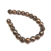 Czech preciosa glass tweedy copper beads, Czech glass beads, glass beads, beads, fire polished, tweedy copper, copper and black beads, faceted beads, beading supplies, jewelry making, B'sue Boutiques, temp strung bead, 8mm bead, 8mm, vintage beads, 09375