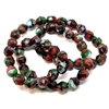 Czech glass beads, fire polished, desert sand, 09378, glass beads, faceted beads, beading supplies, jewelry making supplies, bsue boutiques, temp strung beads, vintage jewelry supplies, vintage beads, mosaic, multicolor, fiesta beads, confetti beads