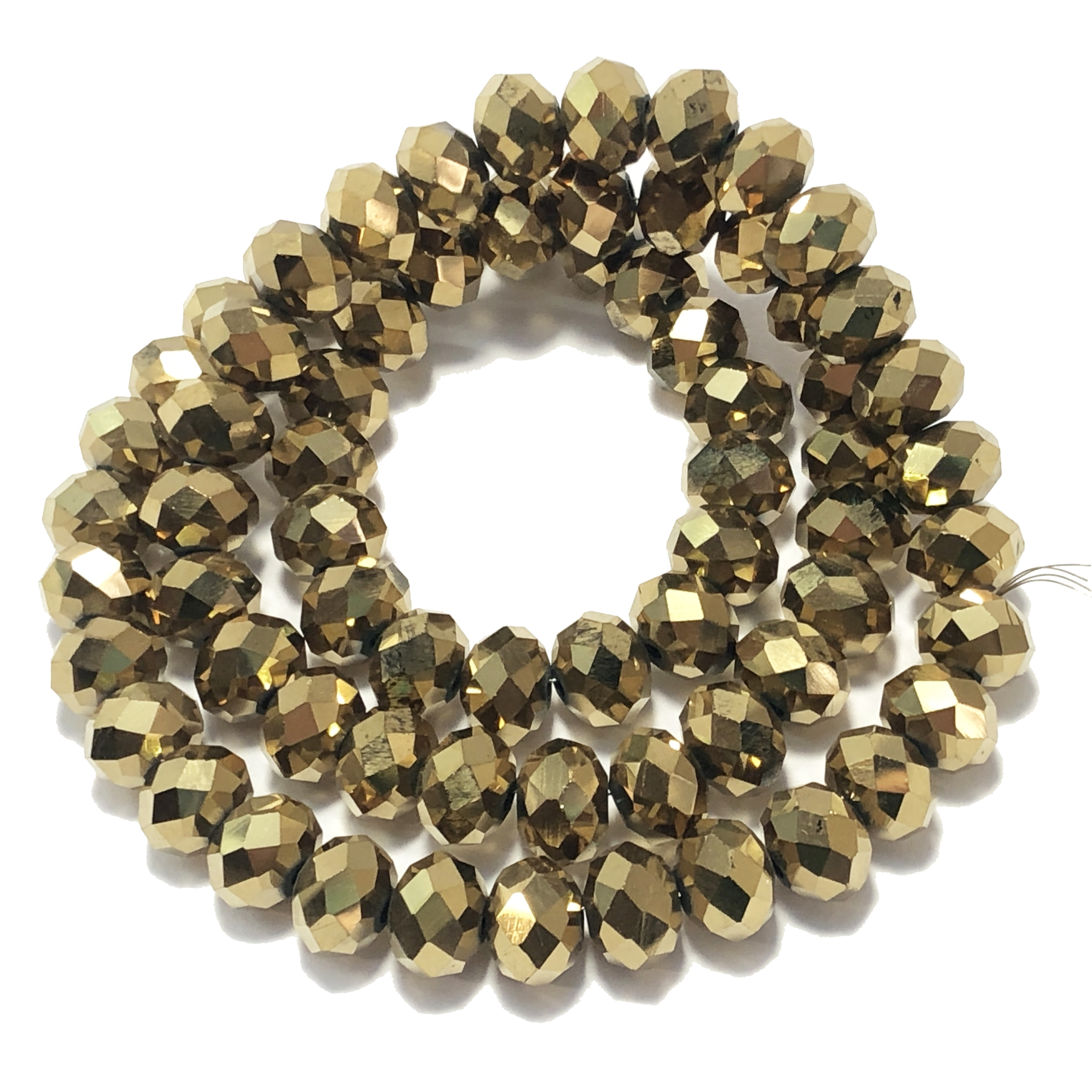 glass abacus beads, electroplate gold plate, 09503, glass beads, faceted beads, beading supplies, jewelry making supplies, bsueboutiques, temp strung beads, vintage jewelry supplies, vintage beads, crystal clear, multicolor