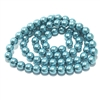 Cerulean pearl beads, green blue pearl beads, 6mm bead, glass pearl, Czech, B'sue Boutiques, bead, jewelry making, beading supplies, vintage supplies, pearl, pearl beads, glass beads, blue-green beads, 09510