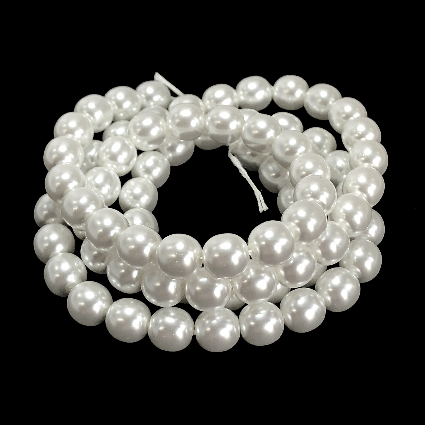 white pearl beads, white snow pearl beads, 8mm bead, glass pearl, Czech, B'sue Boutiques, bead, jewelry making, beading supplies, vintage supplies, pearl, pearl beads, glass beads, jewelry supplies, jewelry beads, white beads, 09524