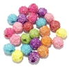 rose beads, multicolor, acrylic, plastic rose beads, 10mm rose beads, 10mm, molded beads, carved rose, B'sue Boutiques, jewelry supplies, jewelry making, iridescent, AB beads, aurora borealis,09572