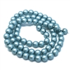 cerulean pearl beads, blue-green beads, 6mm bead, glass pearl, Czech, B'sue Boutiques, bead, jewelry making, beading supplies, vintage supplies, pearl, pearl beads, glass beads, aqua beads, 09670