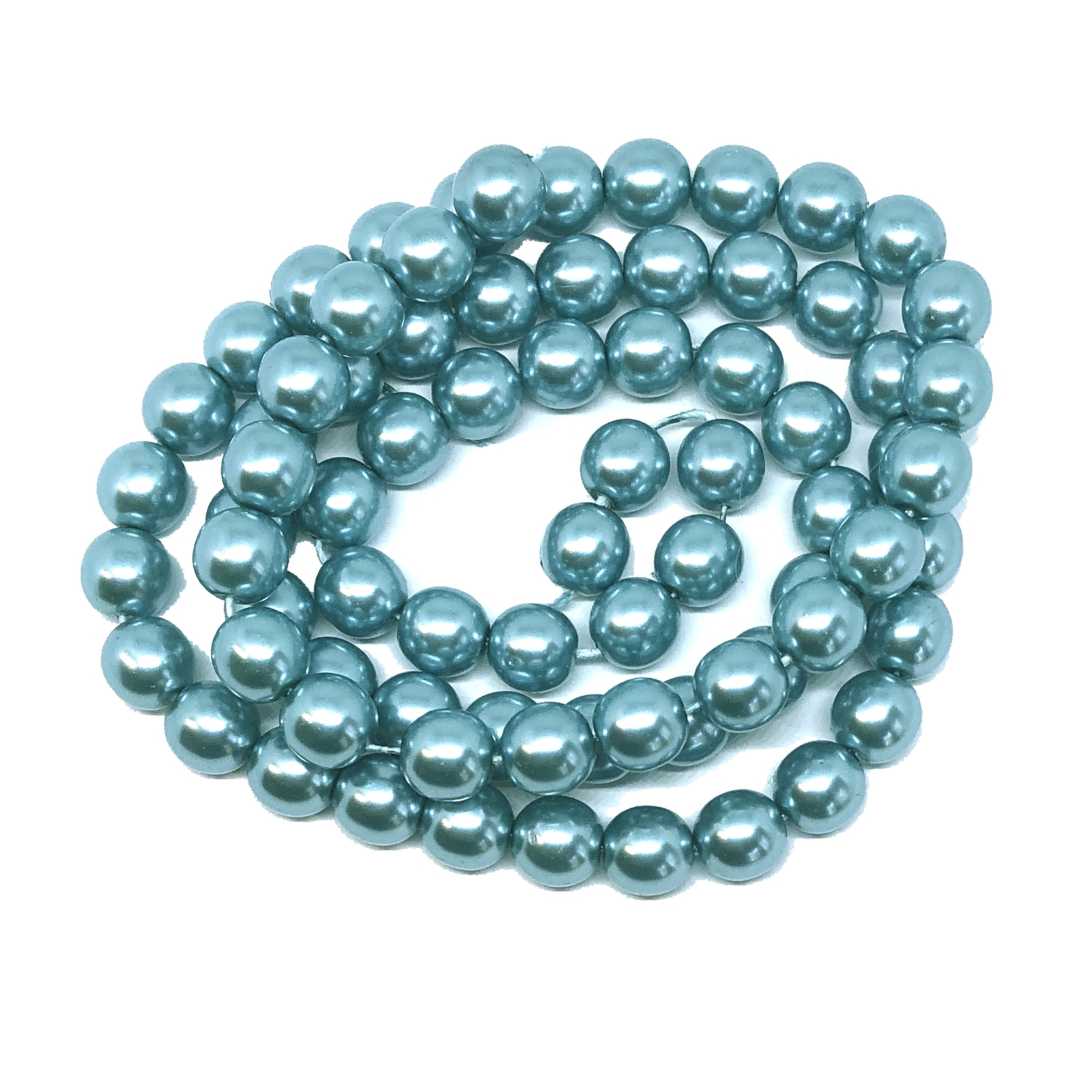 Cerulean pearl beads, green blue pearl beads, 8mm bead, glass pearl, Czech, B'sue Boutiques, bead, jewelry making, beading supplies, vintage supplies, pearl, pearl beads, glass beads, blue-green beads, 09671