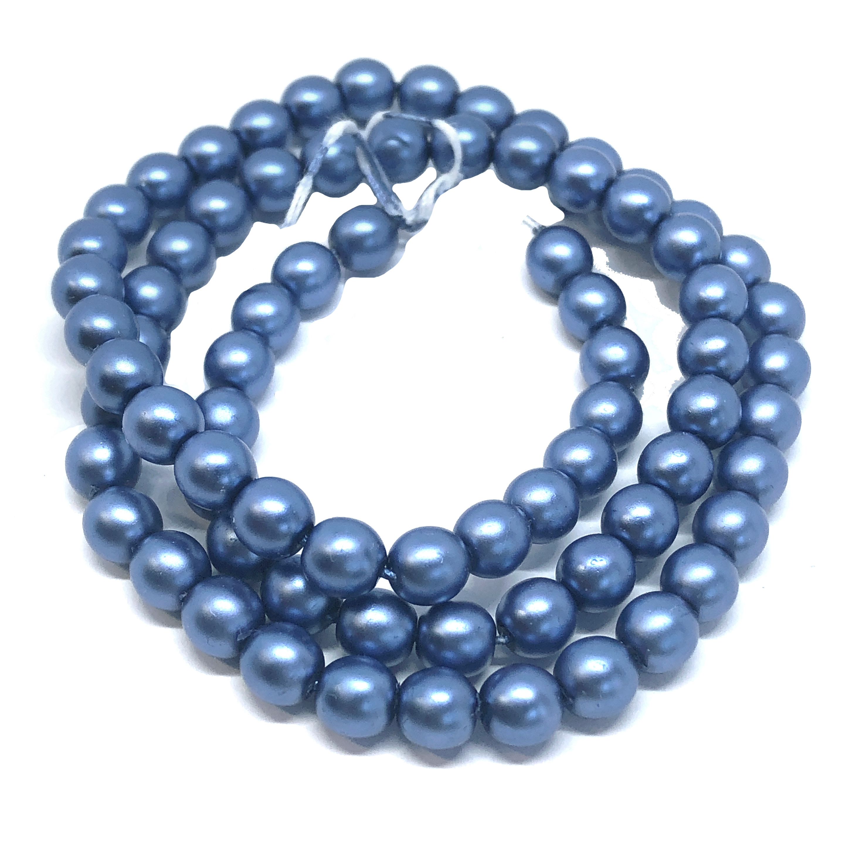 Persian blue pearl beads, 6mm bead, glass pearl, Czech, B'sue Boutiques, bead, jewelry making, beading supplies, vintage supplies, pearl, pearl beads, glass beads, jewelry supplies, jewelry beads, blue beads, 09672