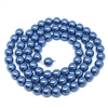Persian blue pearl beads, 8mm bead, glass pearl, Czech, B'sue Boutiques, bead, jewelry making, beading supplies, vintage supplies, pearl, pearl beads, glass beads, jewelry supplies, jewelry beads, blue beads, 09673