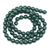Emerald pearl beads, deep green pearl beads, 6mm bead, glass pearl, Czech, B'sue Boutiques, bead, jewelry making, beading supplies, vintage supplies, pearl, pearl beads, glass beads, green beads, 09674