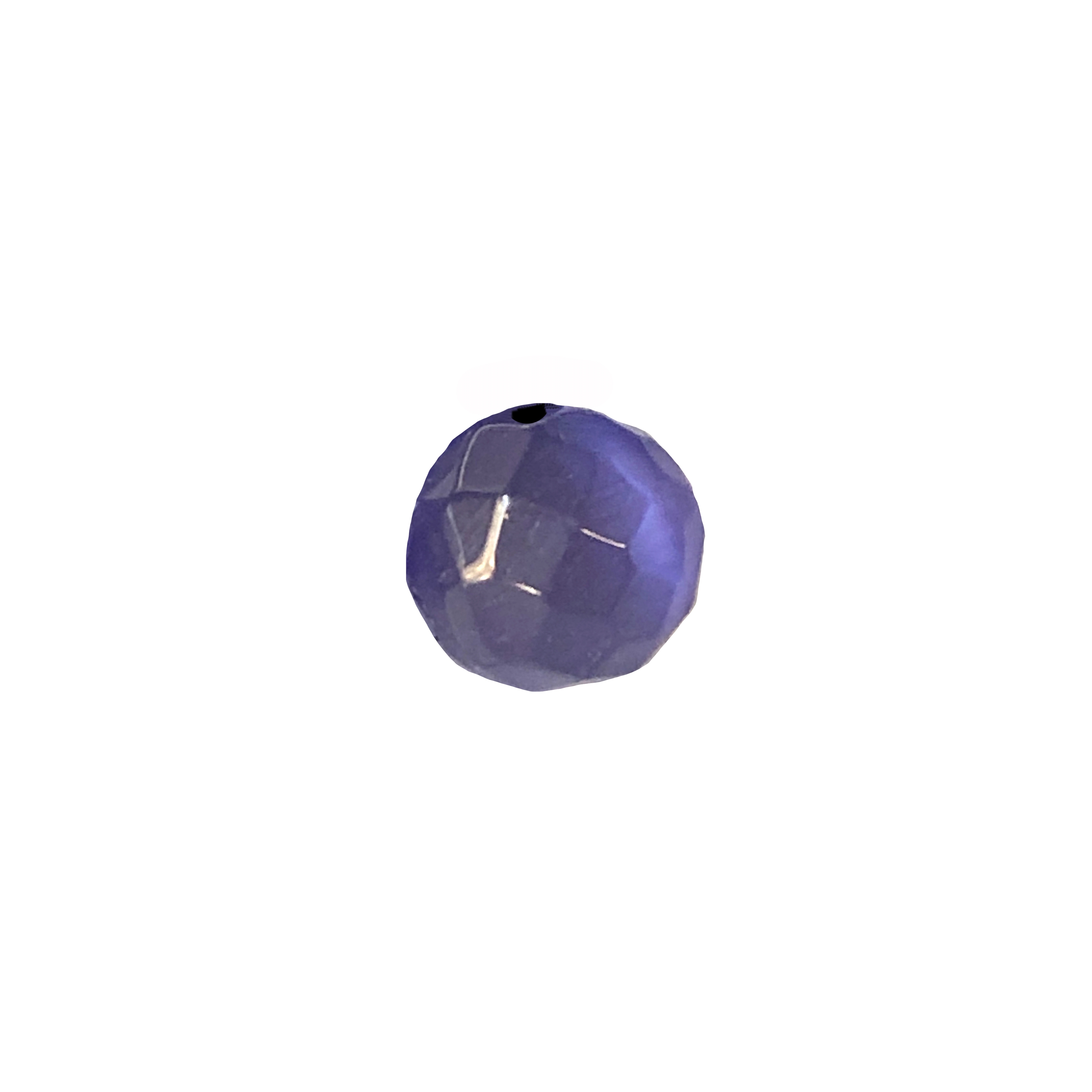 tanzanite purple cat's eye beads, glass beads, fiber optic glass, glass, cat's eye, purple beads, round, glossy shine, faceted beads, US made, B'sue Boutiques, jewelry stone, 10mm, 09717