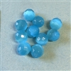 Aqua cat's eye beads, glass beads, turquoise beads, fiber optic glass, glass, cat's eye, aqua beads, cabochon, round, glossy shine, faceted beads, US made, B'sue Boutiques, jewelry stone, 8mm, 09723