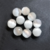 White cat's eye beads, glass beads, fiber optic glass, glass, cat's eye, white beads, cabochon, round, glossy shine, faceted beads, US made, B'sue Boutiques, jewelry stone, 8mm, 09733