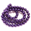 Purple pearl beads, pearl beads, 8mm bead, glass pearl, Czech, B'sue Boutiques, bead, jewelry making, beading supplies, vintage supplies, pearl, pearl beads, glass beads, purple beads, 09737
