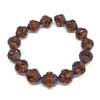 alloy orange turbine picasso finish beads, beads, Czech glass beads, saucer beads, amber, brown, orange, faceted, Czech glass, picasso, drilled, glass beads, US made, B'sue Boutiques, jewelry making, turbine beads, 10x11mm, 09793