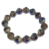 dark grape periwinkle turbine picasso finish beads, beads, Czech glass beads, saucer beads, periwinkle, dark grape, faceted, Czech glass, picasso, drilled, glass beads, US made, B'sue Boutiques, jewelry making, turbine beads, 10x11mm, 09795