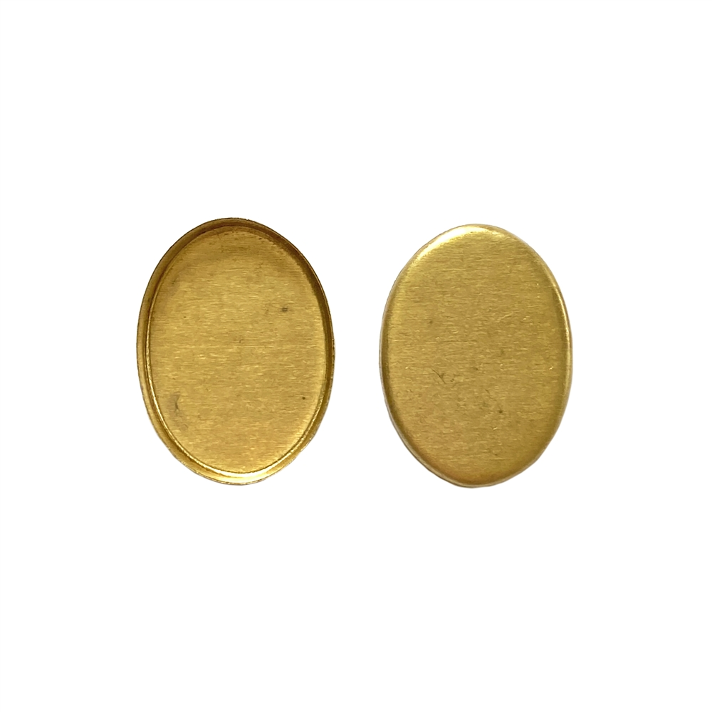 brass bezel, jewelry supplies, raw brass,18x13mm