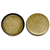 Brass Bezel, Brass Ox, Nickel Free Finish, 18mm Mount
