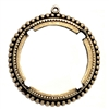 Brass Bezel, Brass Pendant, Backless Bezel, Four Pronged, Brass Ox, 38mm