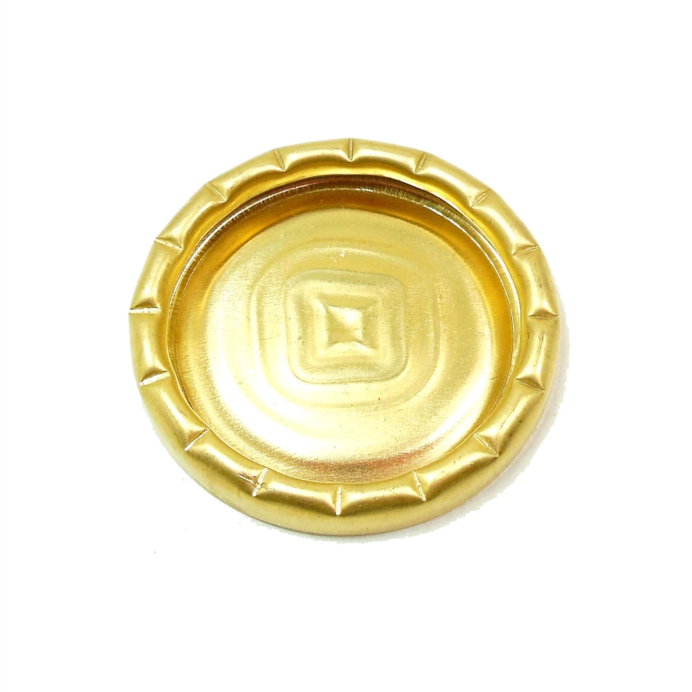 brass bezel, pie crust bezel, jewelry making, 30mm, unplated brass bezel, raw brass, jewelry supplies, jewelry making, Bsue Boutiques