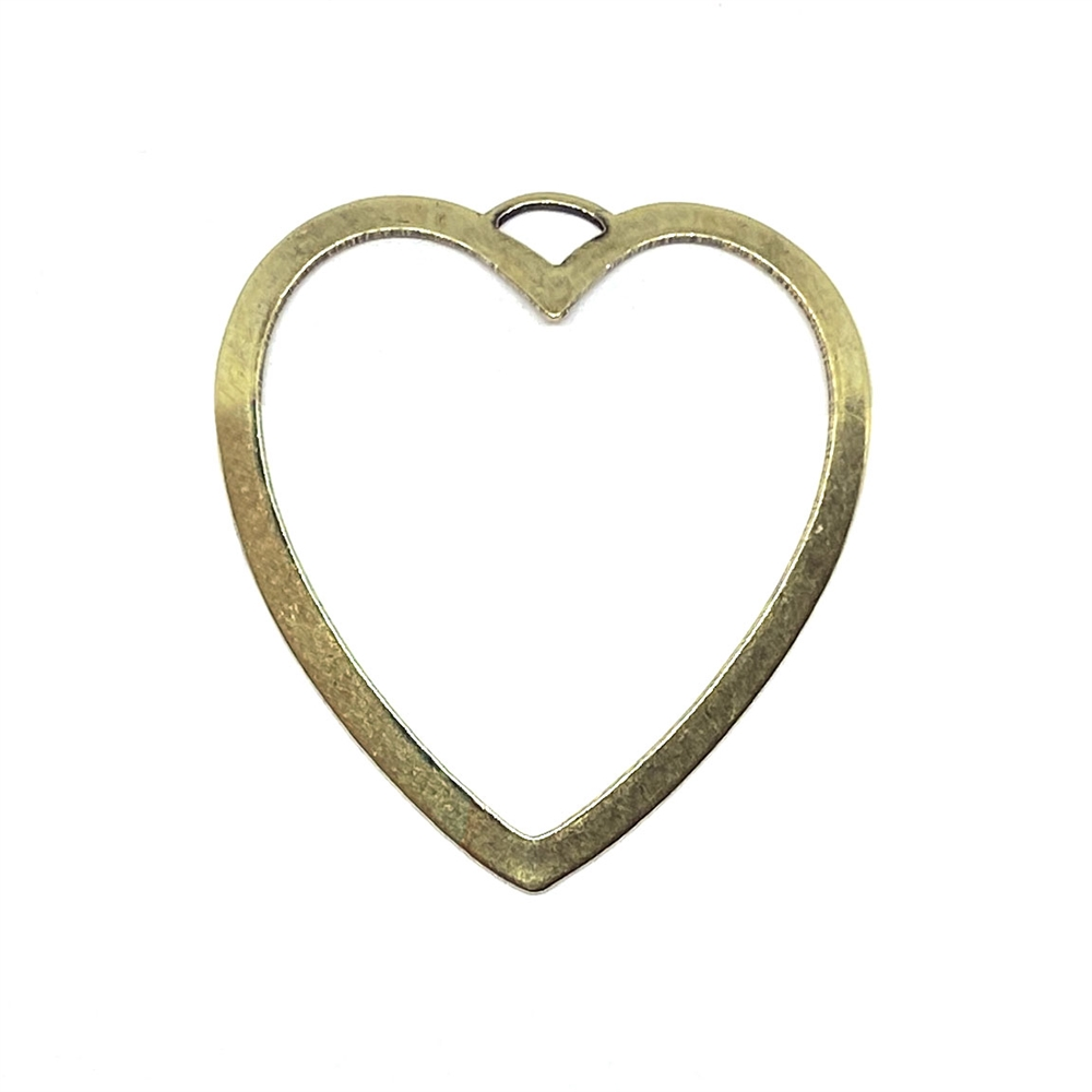 backless bezel, heart, brass ox, 03116, backless heart, heart pendant, heart bezel, jewelry making, jewelry supplies, B'sue Boutiques, brass ox bezel, brass ox heart, antique brass