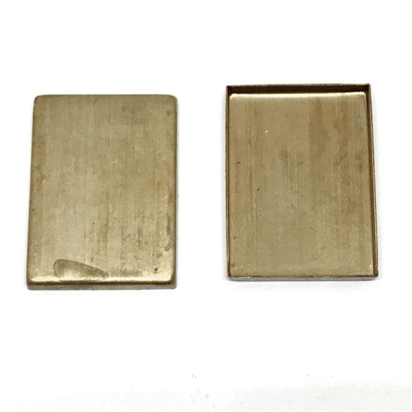 square frame bezel, frame, picture frame, bezel, raw brass, unplated ...